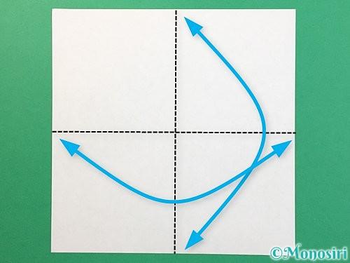折り紙でぴょんぴょんうさぎの折り方手順1