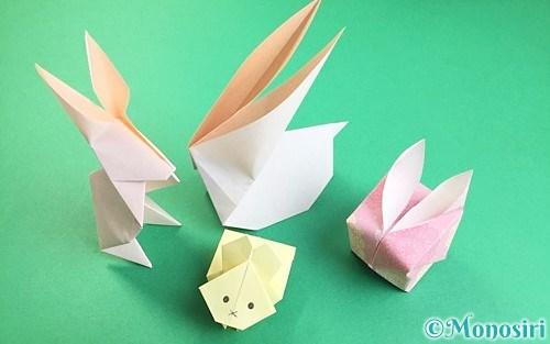 折り紙で作ったうさぎ