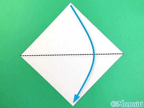 折り紙でトンボの折り方手順1