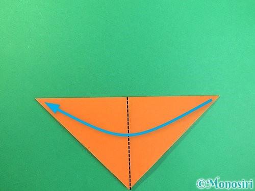 折り紙でトンボの折り方手順3