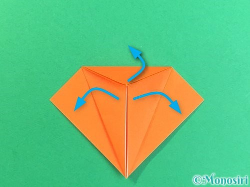 折り紙でトンボの折り方手順14