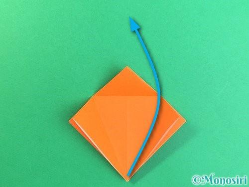 折り紙でトンボの折り方手順16