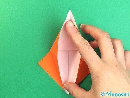 折り紙でトンボの折り方手順18