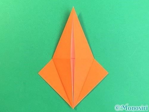 折り紙でトンボの折り方手順19