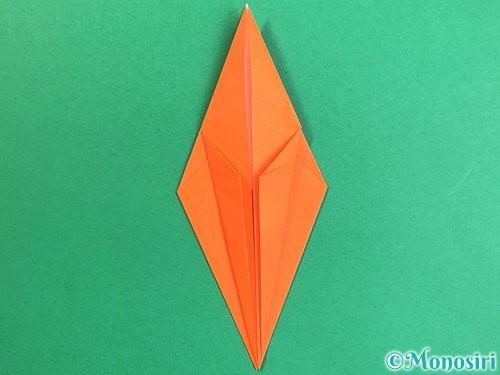 折り紙でトンボの折り方手順22
