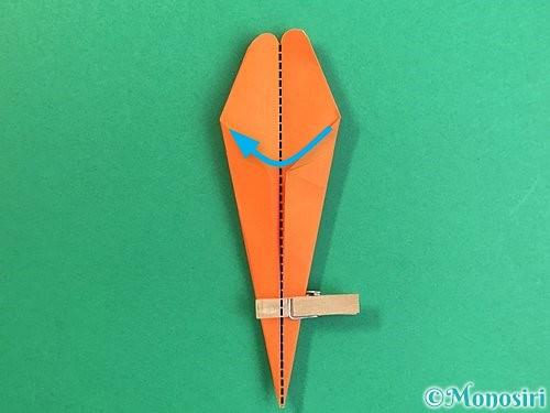 折り紙でトンボの折り方手順26