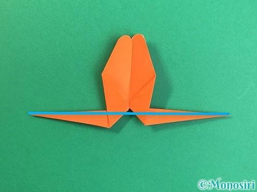 折り紙でトンボの折り方手順31