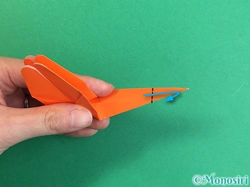 折り紙でトンボの折り方手順32