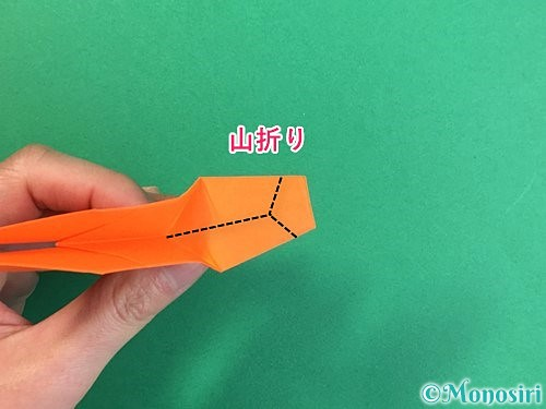 折り紙でトンボの折り方手順37