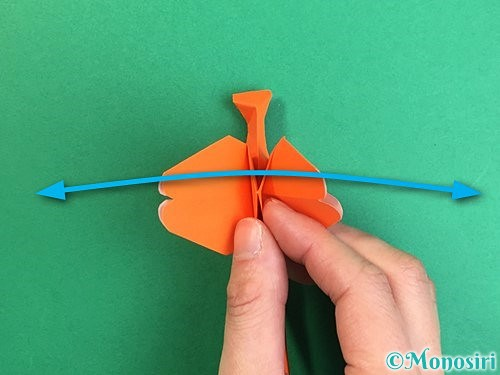 折り紙でトンボの折り方手順39
