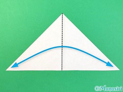 折り紙でトンボの折り方手順4