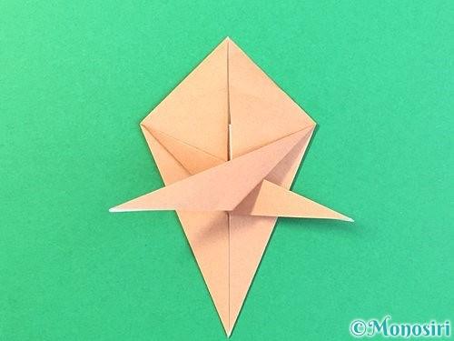 折り紙でトンボの折り方手順44