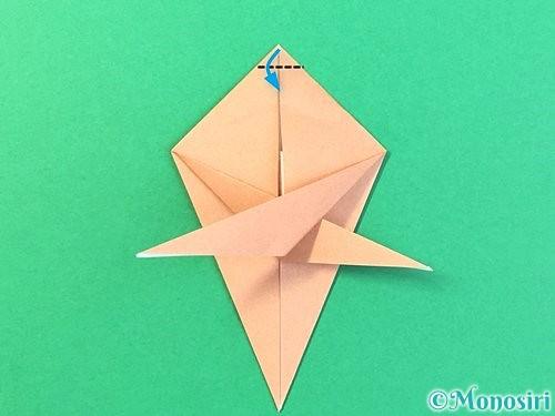 折り紙でトンボの折り方手順45