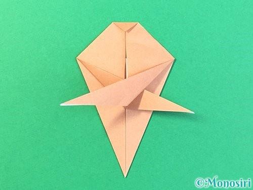折り紙でトンボの折り方手順46