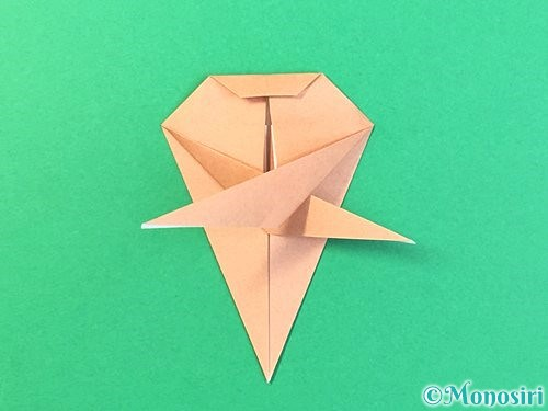 折り紙でトンボの折り方手順48