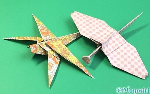 折り紙で作ったトンボ