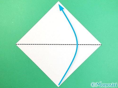 折り紙でもみじの切り方手順1