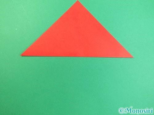 折り紙でもみじの切り方手順2
