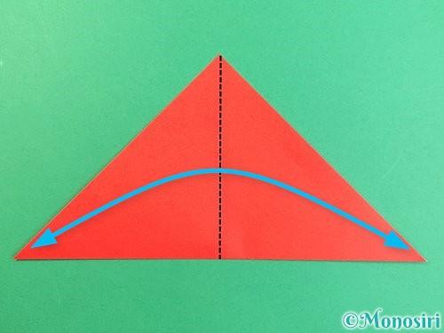 折り紙でもみじの切り方手順3