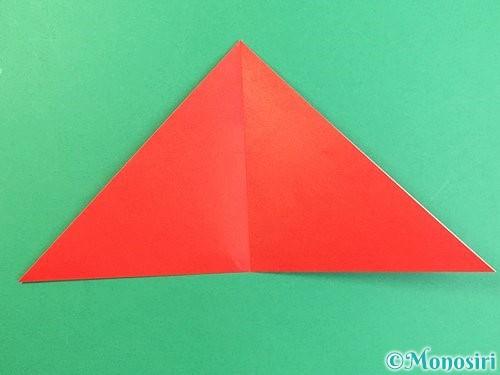 折り紙でもみじの切り方手順4