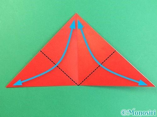 折り紙でもみじの切り方手順5
