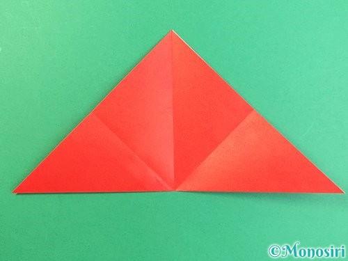 折り紙でもみじの切り方手順6