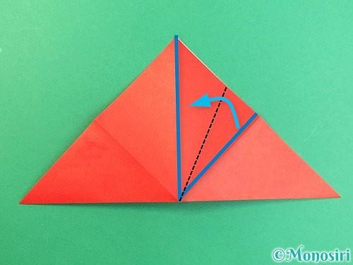 折り紙でもみじの切り方手順8
