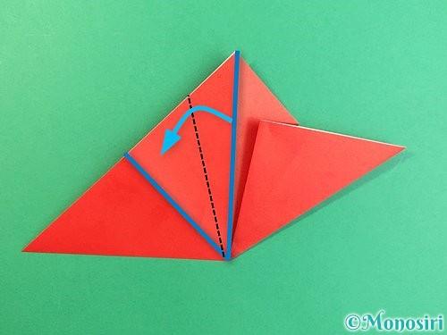 折り紙でもみじの切り方手順10