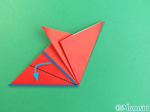 折り紙でもみじの切り方手順12