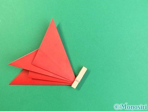 折り紙でもみじの切り方手順13