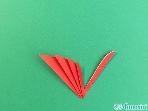 折り紙でもみじの切り方手順15