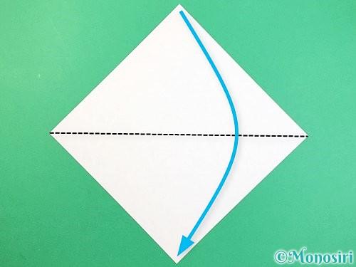折り紙でもみじの折り方手順1