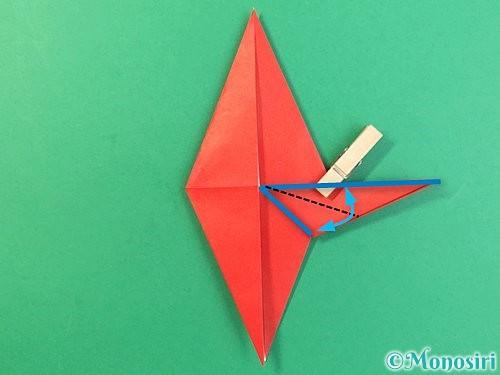 折り紙でもみじの折り方手順25