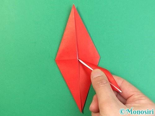 折り紙でもみじの折り方手順28