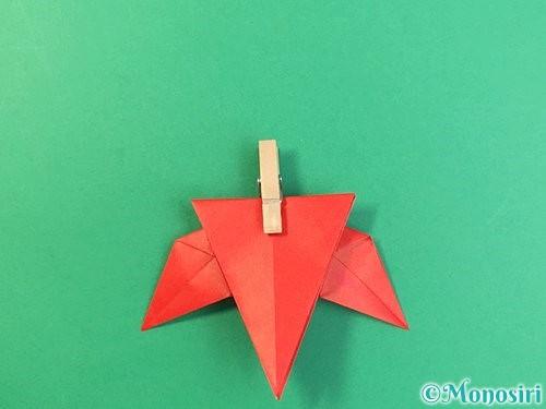 折り紙でもみじの折り方手順33
