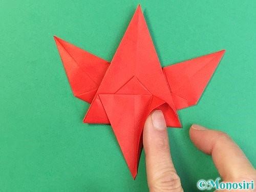 折り紙でもみじの折り方手順38