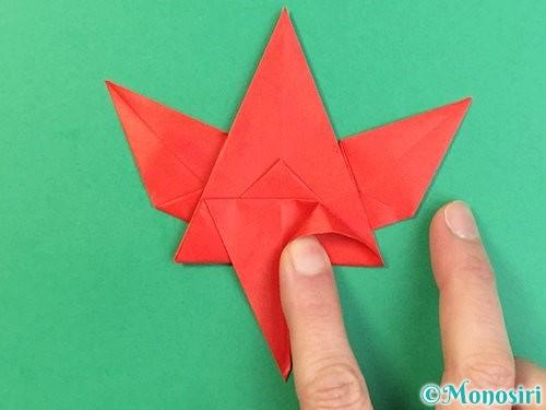 折り紙でもみじの折り方手順39