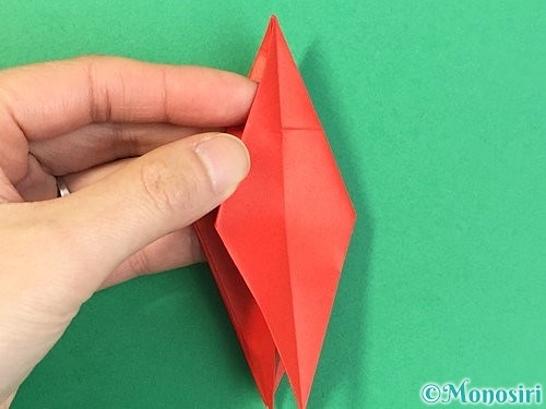 折り紙でもみじの折り方手順27
