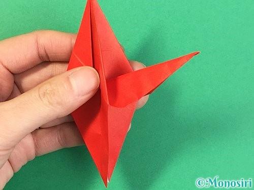 折り紙でもみじの折り方手順29