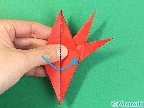 折り紙でもみじの折り方手順35