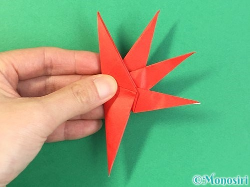 折り紙でもみじの折り方手順37