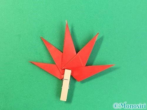 折り紙でもみじの折り方手順42
