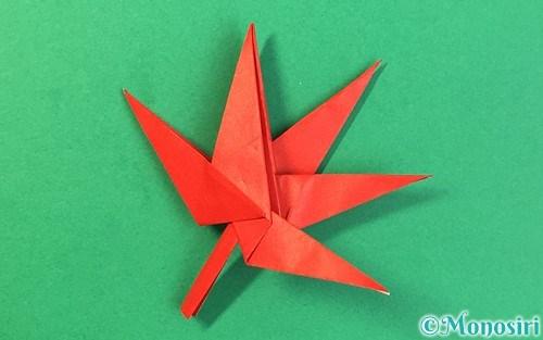 折り紙で折ったもみじ