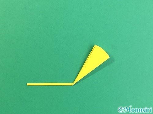 折り紙でいちょうの切り方手順10