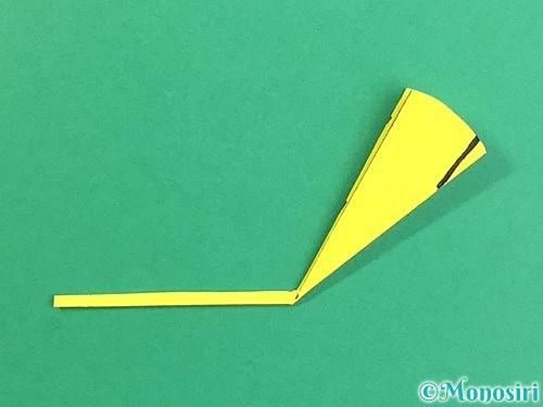 折り紙でいちょうの切り方手順11