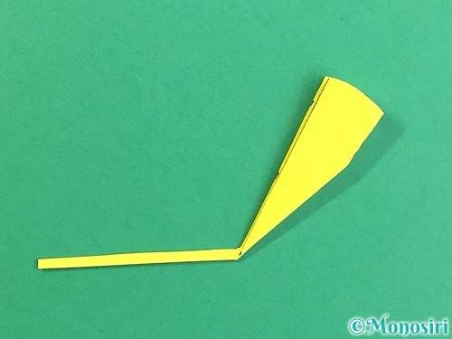 折り紙でいちょうの切り方手順12