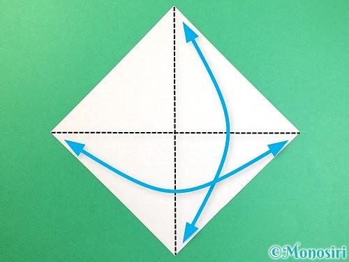 折り紙でいちょうの折り方手順1