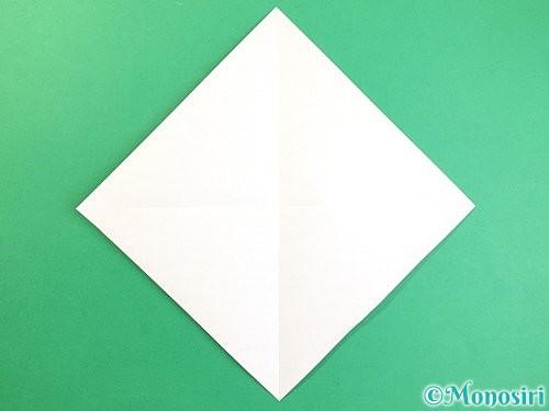 折り紙でいちょうの折り方手順2