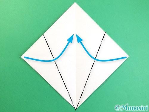 折り紙でいちょうの折り方手順3