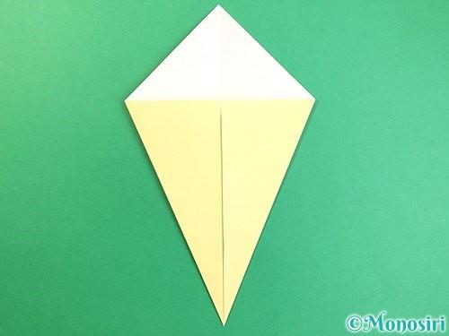 折り紙でいちょうの折り方手順4